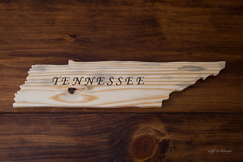 State Cutout - Tennessee Sign w/ TENNESSEE written
