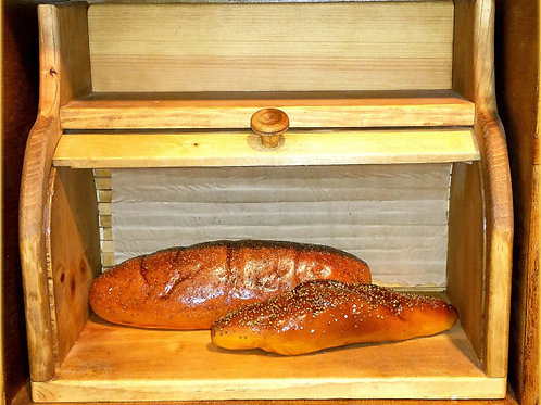 Old Fashioned Rolltop Bread Box