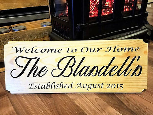Family Welcome Home Sign