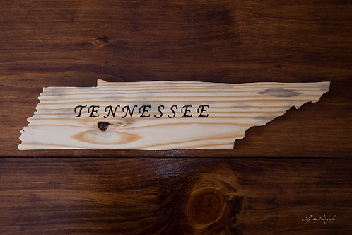Tennessee State Cutout w/ TENNESSEE written