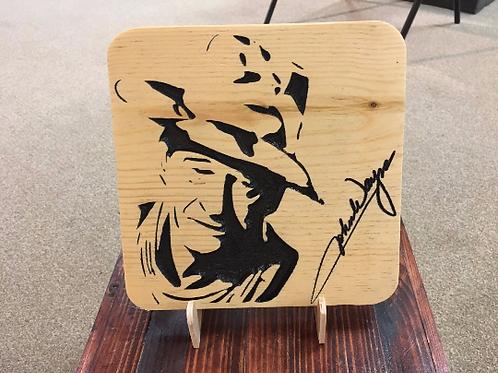 John Wayne Signature Plaque
