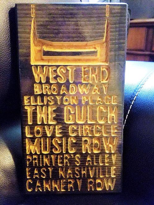 Downtown Nashville/Batman Building Plaque