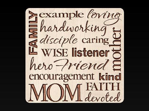 Mom Collage Plaque