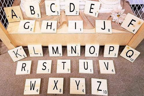"Large/Jumbo ""Scrabble"" Tiles"
