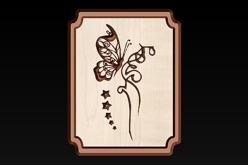 Butterfly in the Meadow Picture/Sign/Plaque