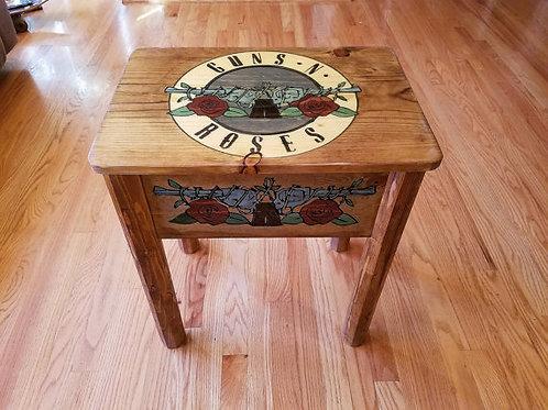 Guns-n-Roses End Table