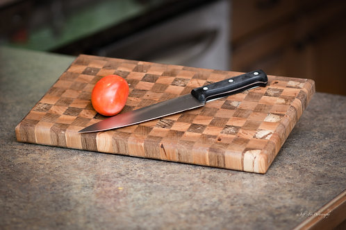 Cherry & Oak End-Grain Cutting Board