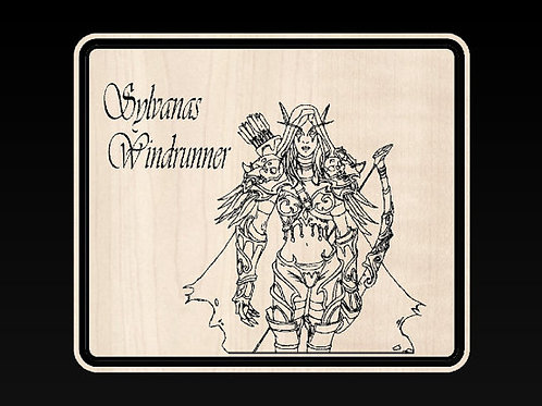 World of Warcraft Sylvanas Windrunner Plaque