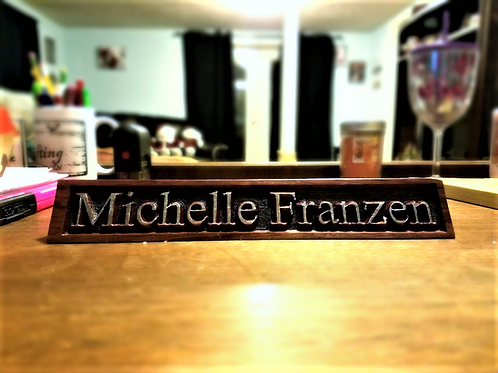 Engraved Wooden Desk Nameplate
