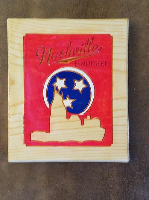 Nashville Skyline Plaque