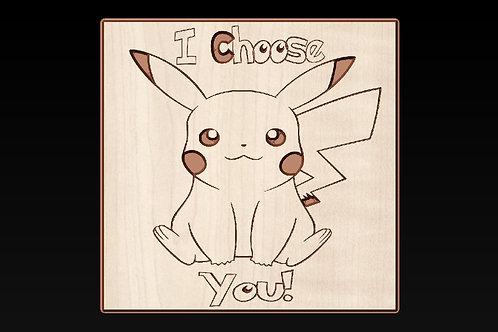 Pokemon Go - Pikachu I Choose You Plaque