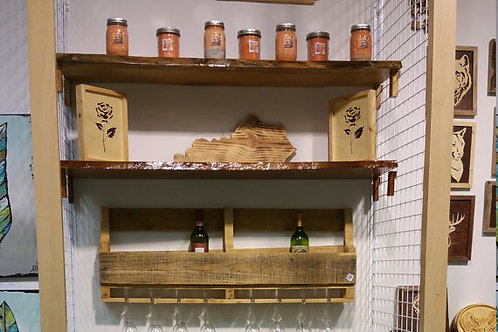 Live Edge Shelf, Oak Wood