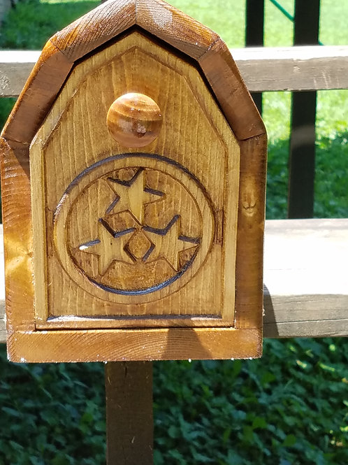 Custom Made Wooden Mailbox
