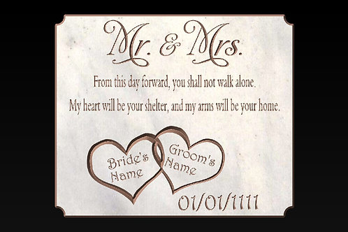 Mr. & Mrs. Wedding Plaque