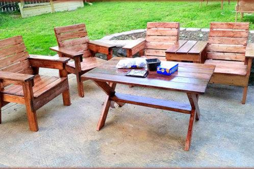 4 Piece Wooden Patio Set