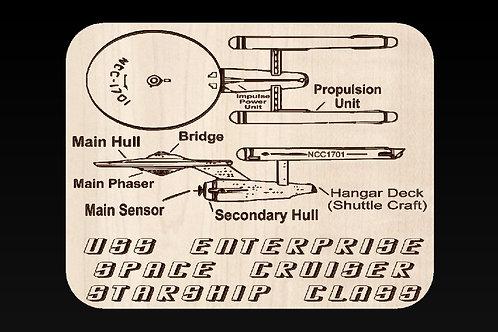 Starship Enterprise - NCC-117 Plaque
