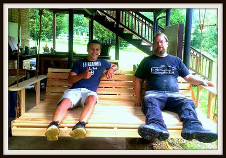 Custom Bed Sized Porch Swing