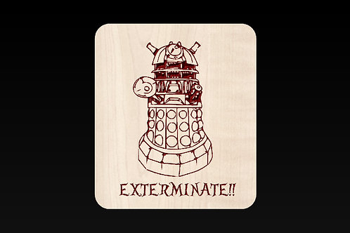 Doctor Who - Dalek Exterminate Plaque