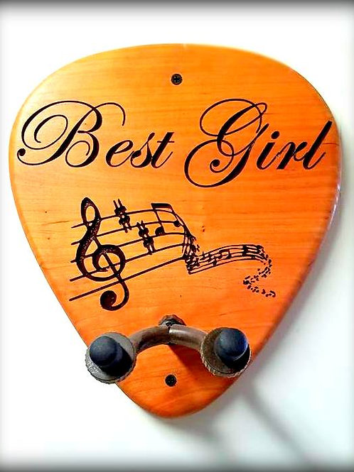 Wall Mounted Guitar Holder - Guitar Pick Shaped