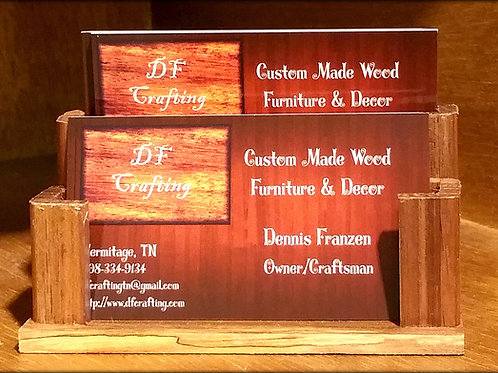 Wooden Business Card Holder (Double)