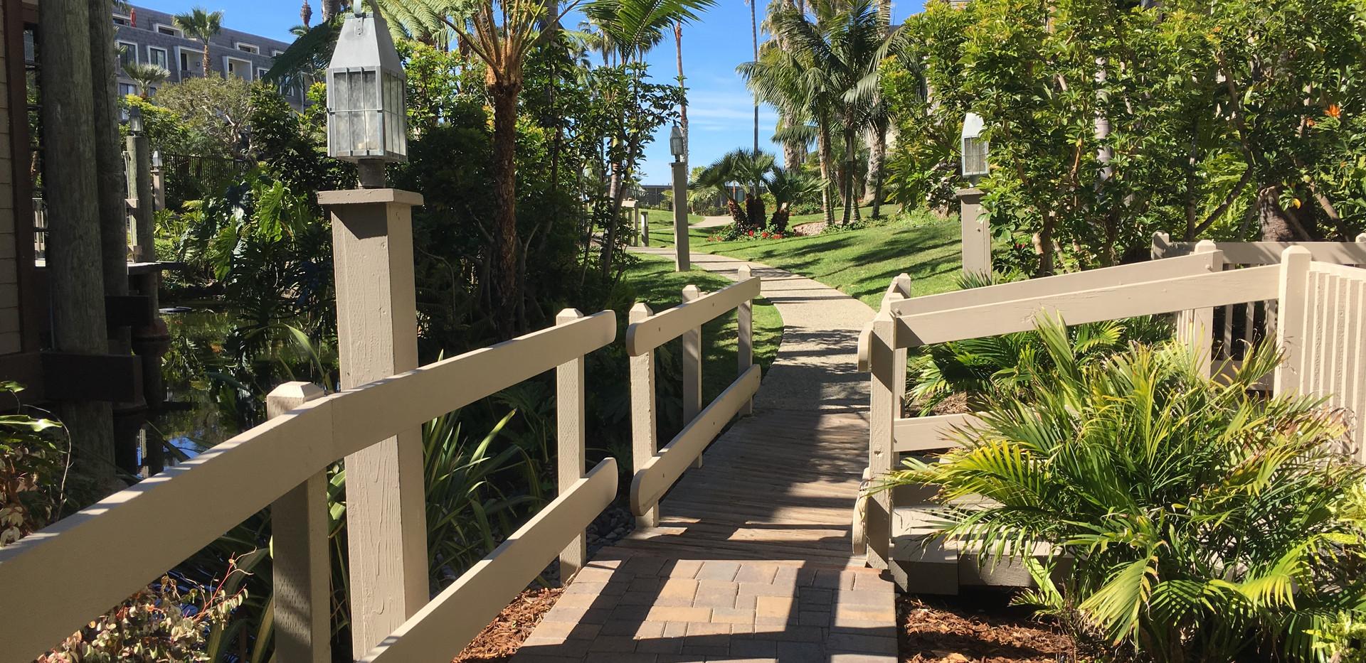 Walkways, ocean in foreground