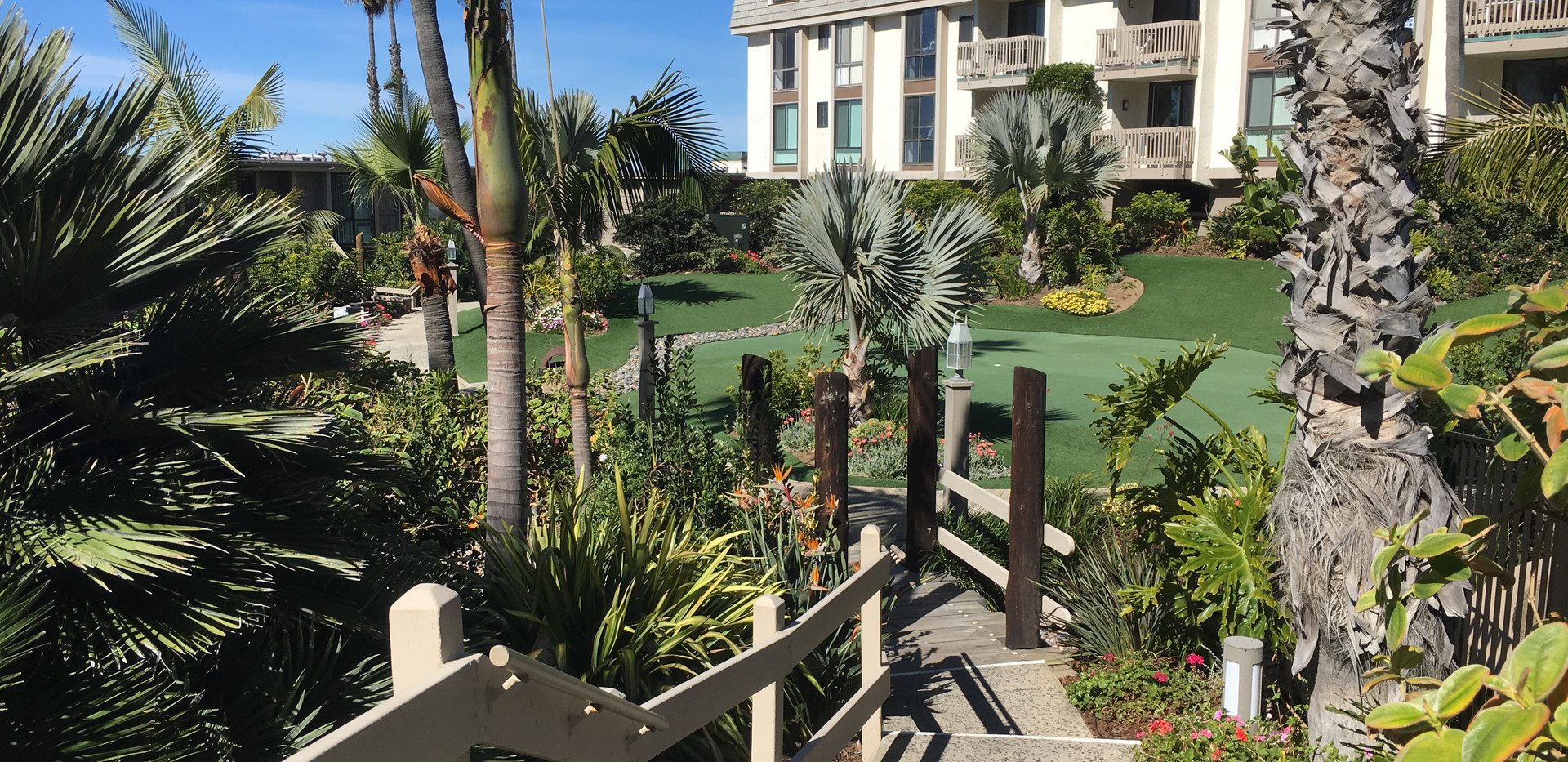 Tropical Landscaped Aalkways