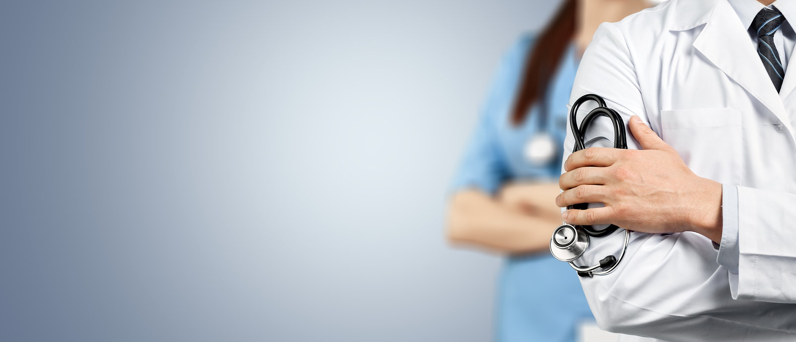 Doctor team with medical stethoscope on