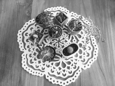 Mandala sobre una mesa