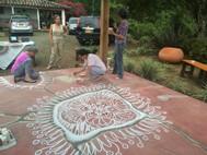 Mandala creado en grupo