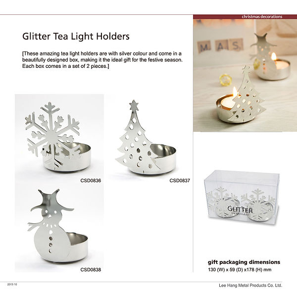 CSD0836_CSD0838_Glitter Tea Light Holder