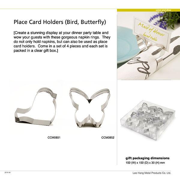 CCM0851-CCM0852 - place card holder+napk