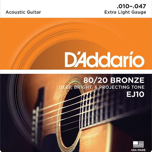 D'Addario Acoustic Bronze 10-47