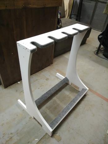 white guitar rack
