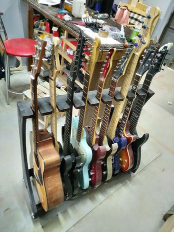 guitar rack 9 black