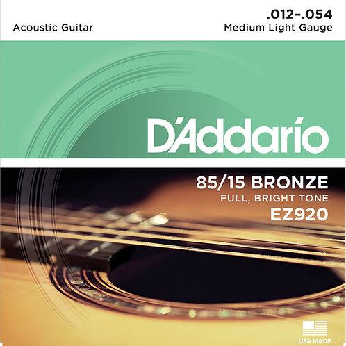 D'Addario Acoustic Bronze 12-54