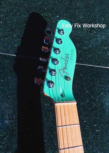 Fender Tele Перекраска головы и нанесение логотипа