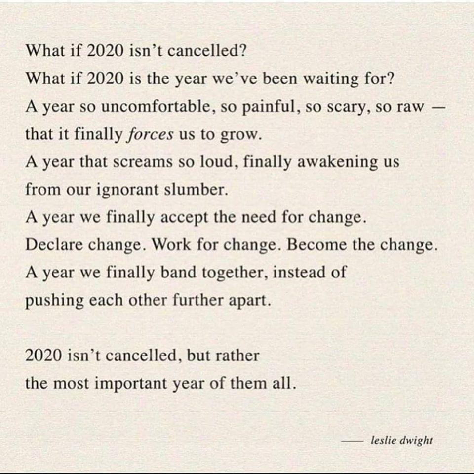 Poem for 2020