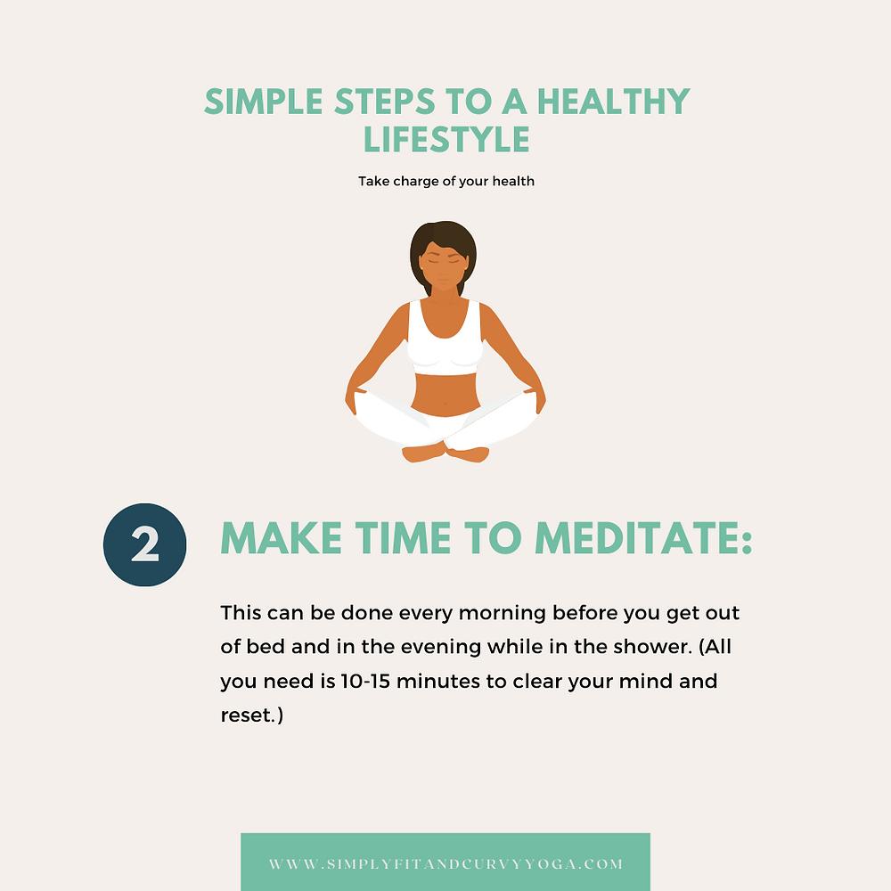 Make time to meditate