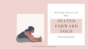 Paschimottasana or seated forward fold pose