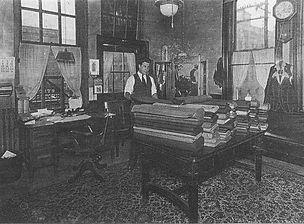 Fiorendo Pizzi in his tailor shop
