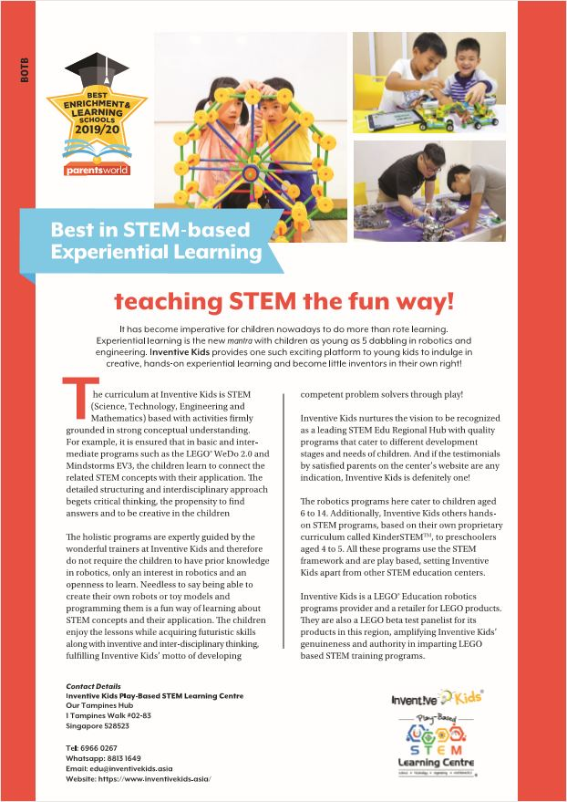 Best in STEM-based Experiential Learning
