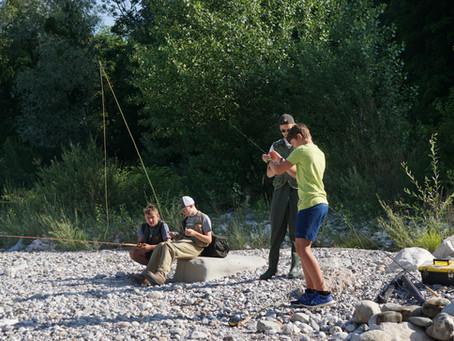 Ausflug der Jugendfischer an den Saalachsee