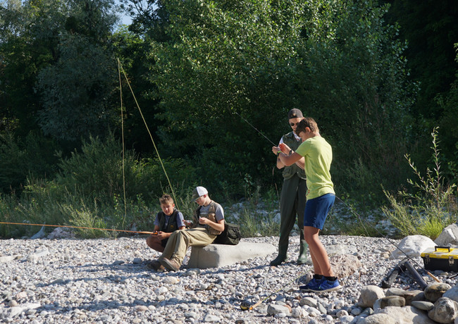 Jugendfischen an der Saalach