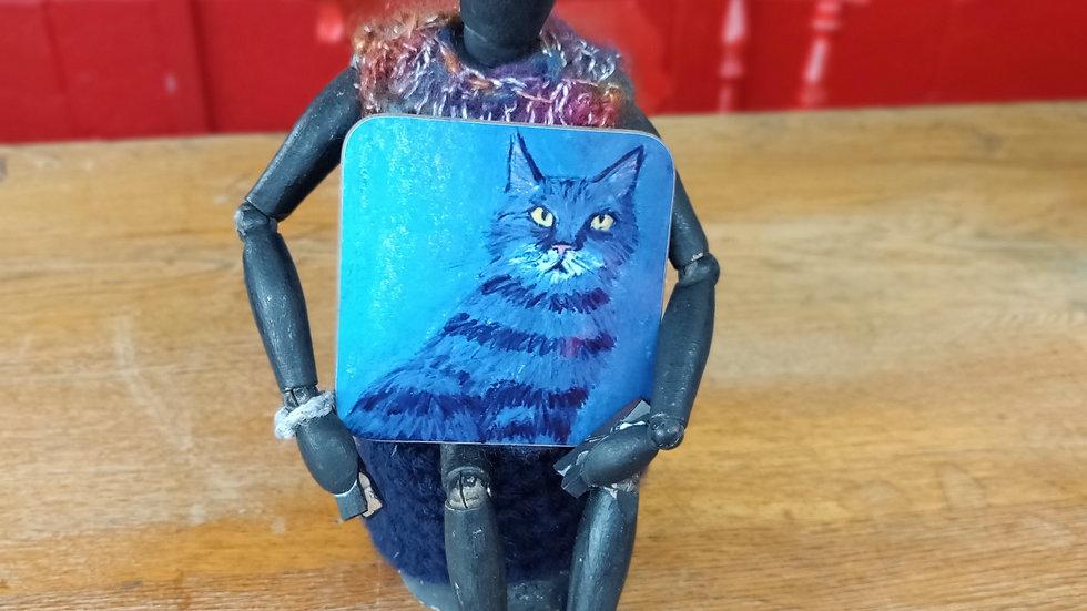 blue catyellow eyes