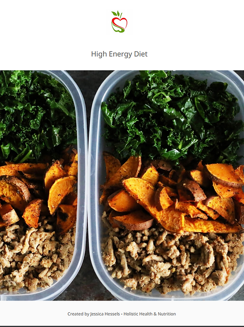 High Enery Diet - Meal Plan