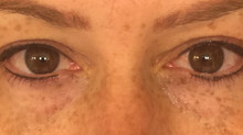 Permanent makeup artist has her Eyeliner Tattooed