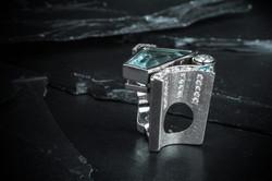 Damen-Ring mit Aquamarin