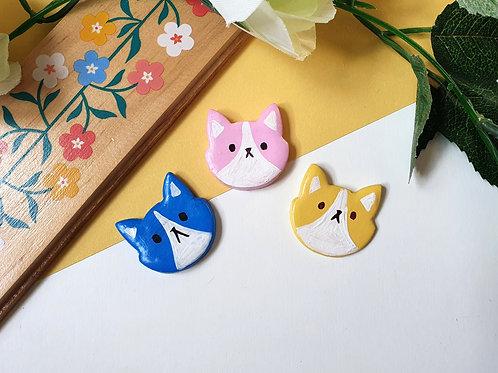 Ceramic Cat Pin