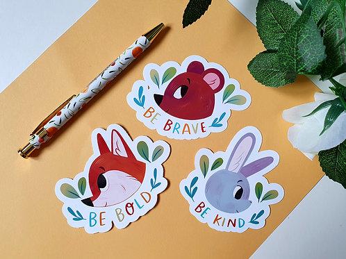 Encouraging Animals Stickers