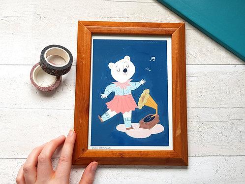 Dancing Bear Original Painting